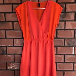H&M Orange/Pink Women's Dress Small/Medium